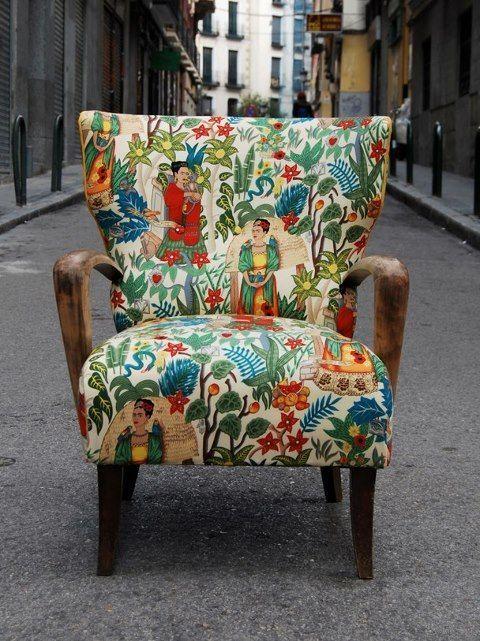 """Frida chair by """"La Tapicera"""" in Spain! (love it!):"""