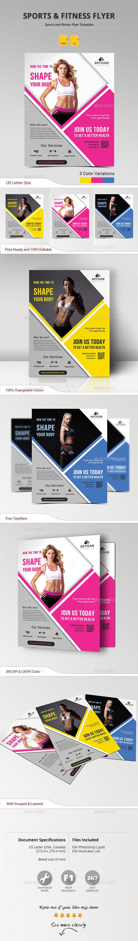Sports & Fitness Flyer - Sports Events