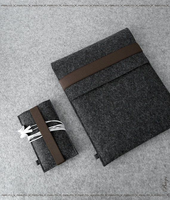 iPad sleeve and iPhone sleeve 'FELT DUETT', by FERUTOBags on Etsy