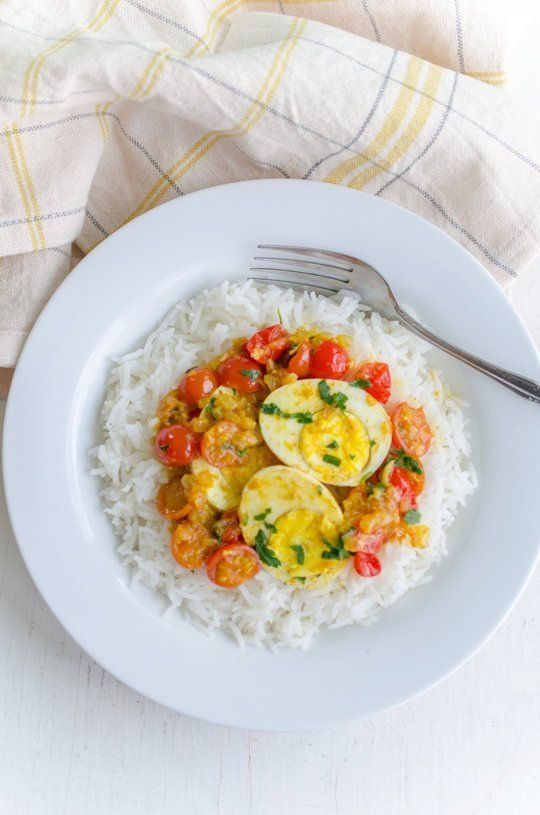 Recipe: Egg Curry with Cherry Tomatoes