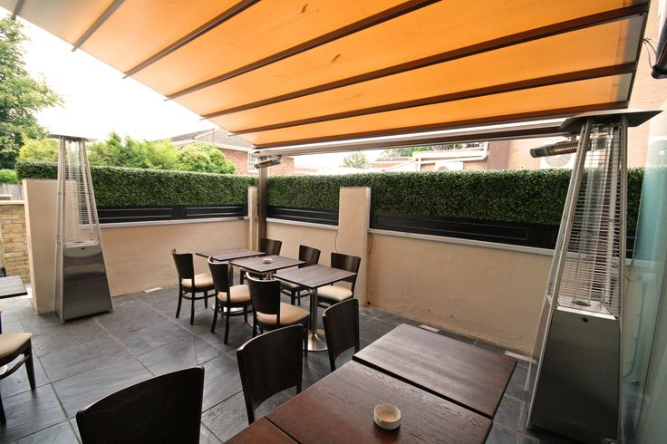 Artificial Topiary Hedges Screening supplied for a Patio Restuarant & Bar area