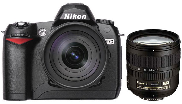 My first DSLR - Nikon D70 w/kit lens. A very good combo that has been my faithful companion for many years now.