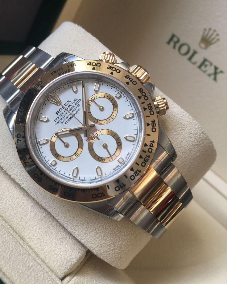 Rolex Daytona Steel & Gold White Dial 116503