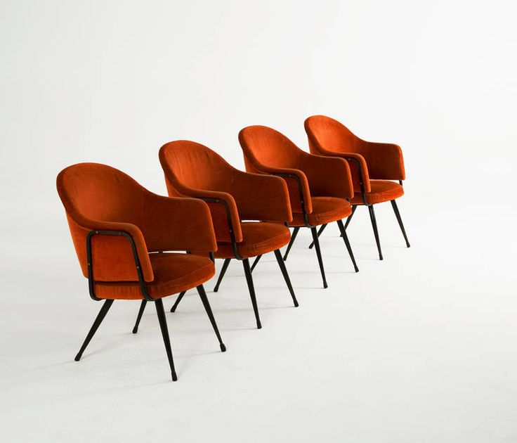 Schön Interesting Set Of Four Armchairs By Giafranco Frattini