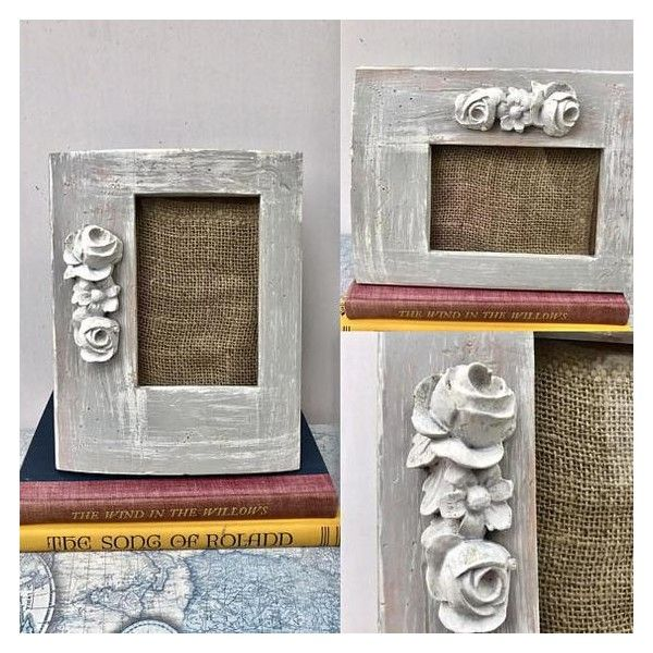 Picture Frame Wood Shabby Chic Grey White Distressed/Wedding Christmas... ❤ liked on Polyvore featuring home, home decor, frames, wooden picture frames, timber frames, 4x6 wood frames, 4x6 frames and gray picture frames