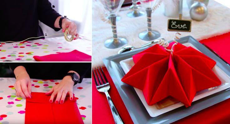 En pleine période de fêtes, je vous propose un petit tutoriel très simple pour réussir à plier vos serviettes en forme de flocon, et ainsi sublimer votre table et épater vos proches. Pour cela, il vous suffit de vous équiper de fil de fer, doré de préférence, de serviettes en papier, de crayon et d'une … More