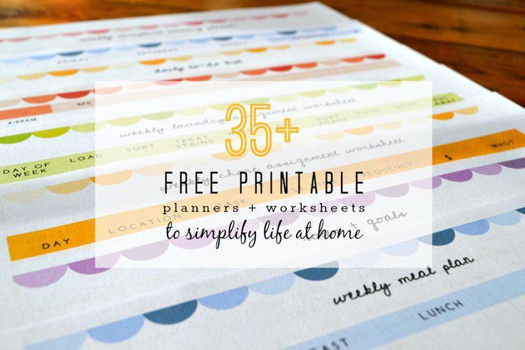 Free Printable Planners  Worksheets 890