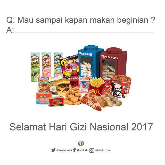 Selamat hari gizi nasional 2017! Ayo perbanyak gizimu dengan makanan sehat dan mulailah mengurangi makanan yang dapat merusak tubuhmu! . . . . . . . . . #sehat #kesehatan #olahraga #health #healthylifestyle #fit #harigizi #harigizinasional #behaviour  #consumer #insight #sehatitusederhana #gayahidupsehat #vegetarian #indonesiasehat #gayahidup #olahraga #ayosehat #ayosehatindonesiaku #healthyman #hidupsehat #sehatalami #infographic #share #knowledge #gizi #kemenkes #junkfood #nutrition…