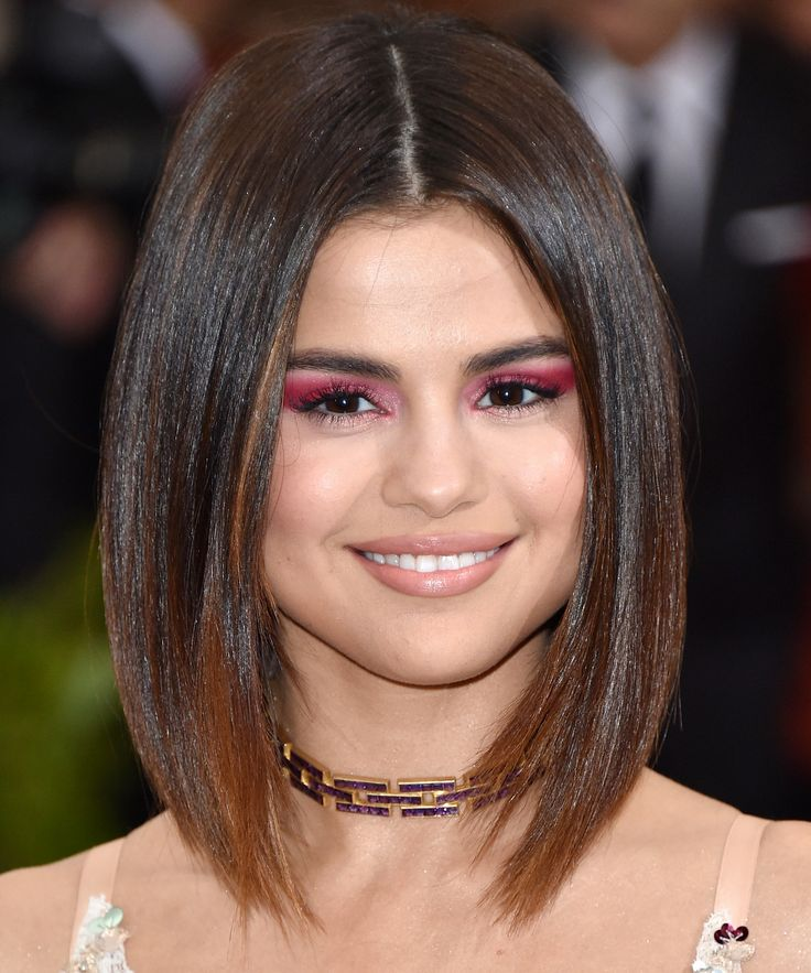 The Best Haircuts for Thick Hair  - Selena Gomez  from InStyle.com