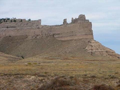 Scotts Bluff National Monument - located near Scotts Bluff, Nebraska. It towers 800 feet above the North Platte River. Also served as an early landmark for settlers heading west.  Take a drive to the top, hike and enjoy the views.