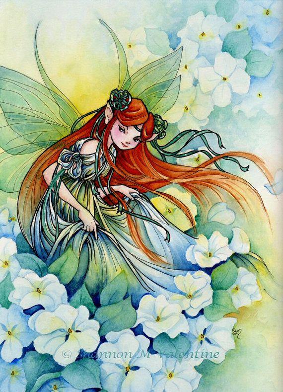 """Art Print """"Garden Faerie"""" by Shannon Valentine"""