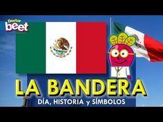 Bandera de Mexico para niños | Dia de la bandera | Aprender Primaria y preescolar | Historia - YouTube