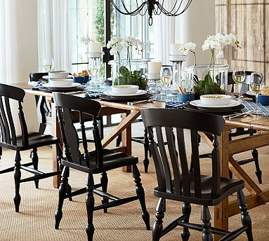 Black Chairs Dining Rooms Breakfast Areas Pinterest Queen Anne It Is A