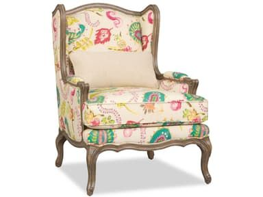This wing chair comes standard with a deluxe seat cushion, kidney pillow, and welt trim only.