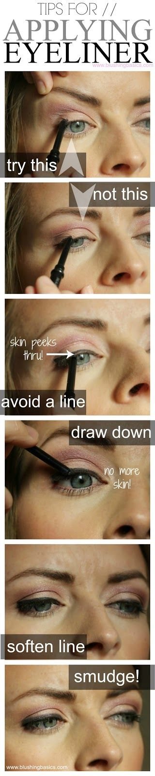 Tips for perfect pencil eyeliner via @Amelia R. Sánchez R. Sánchez Rosales Sánchez Rosales Sánchez masdin Basics