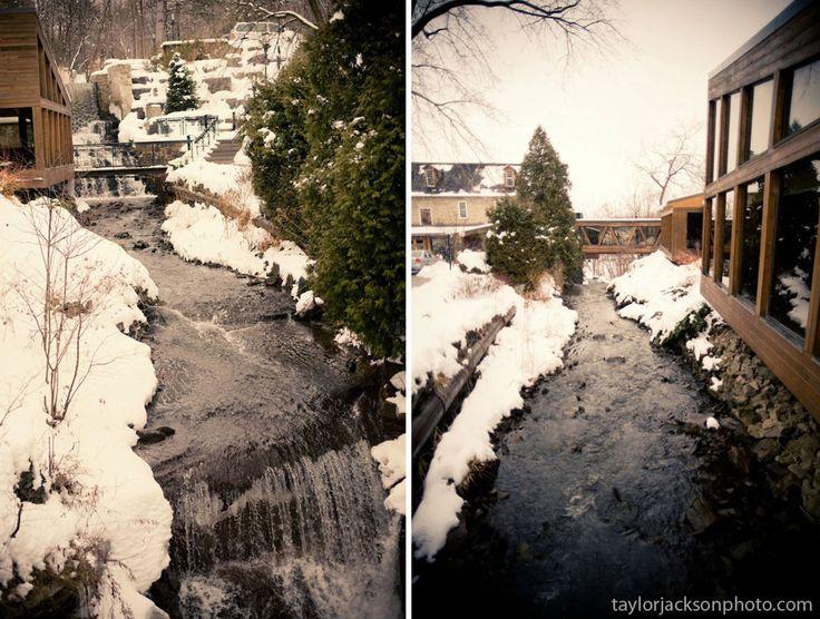 Winter wedding Ancaster Mill