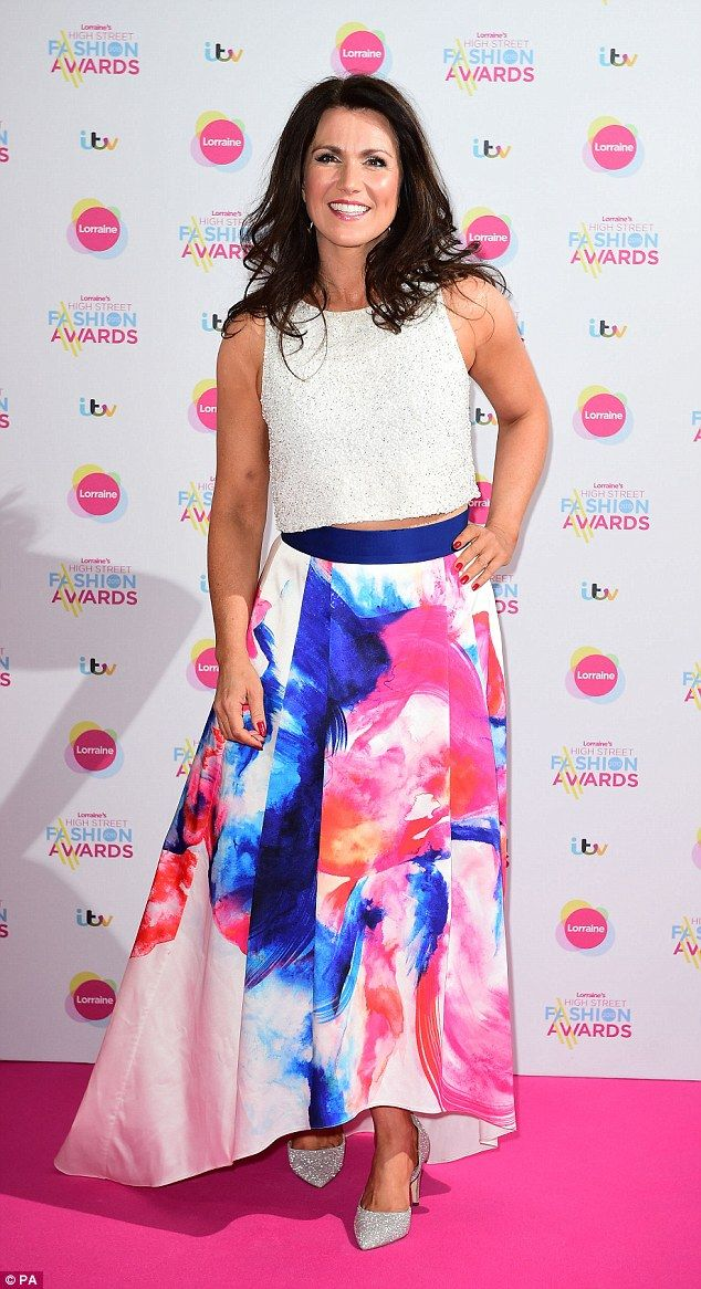 Top of the crops: Susanna Reid opted for a very youthful ensemble to attend Lorraine's Hig...
