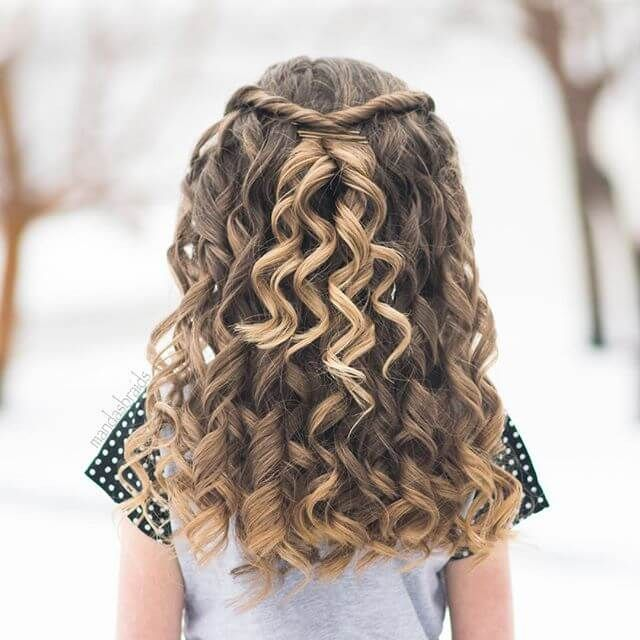 50 Pretty Perfect Cute Hairstyles For Little Girls To Show Off Their Classy Side Littlegi Thick Hair Styles Flower Girl Hairstyles Curly Hair Styles Naturally