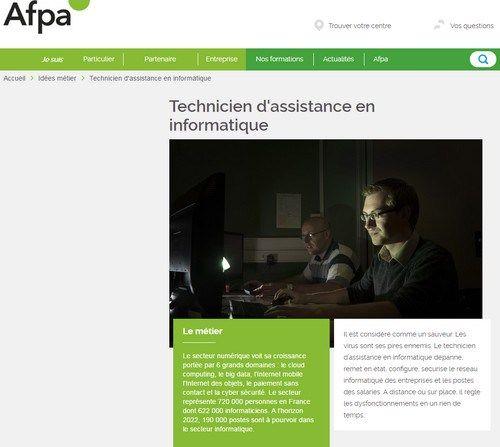 Cours de Technicien dAssistance en Informatique  AFPA