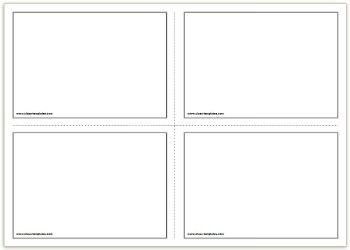 2x2 free printable flash cards template educational