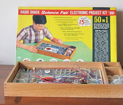 Vintage 1967 Radio Shack Science Fair Electronic Project Kit 201 50 in 1 | eBay
