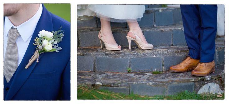 vintage wedding shoes, driftwood hotel cornwall wedding photographer picshore photography