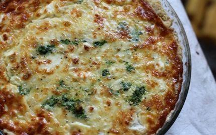 Feta cheese & spinac salty pie / Feta-pinaattipiirakka