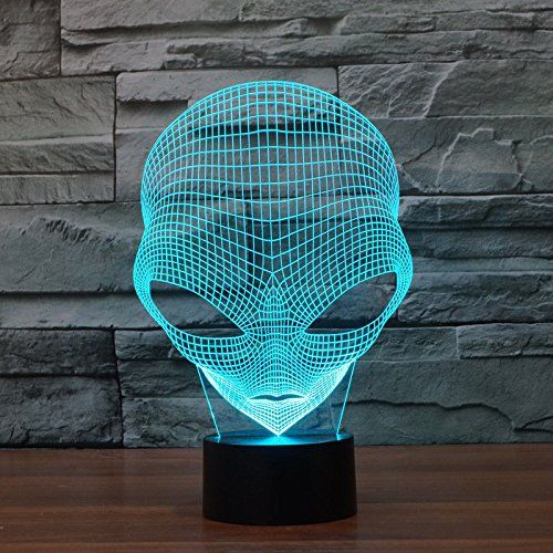 LED 7 Colors ET Changing Hologram Illusion Pop-eyed Alien Shape L& Acrylic Night Light With Touch Switch Luminaria & 807 best Superhero Comic Book Collectibles images on Pinterest ... azcodes.com
