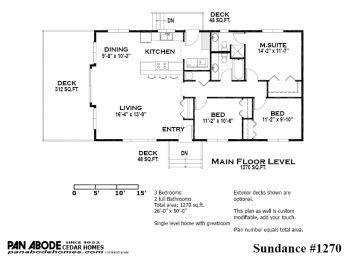 Cedar homes cabin kits and floor plans on pinterest for Cedar cabin floor plans