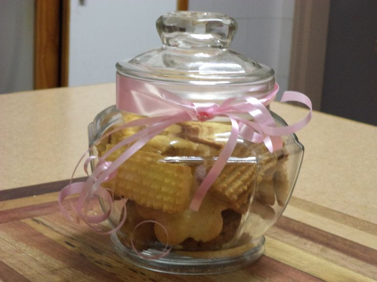 Another gift idea from Ouma's Cookies.  Fill your cookie jar with a mix of South African favourite cookies.  They taste wonderful.