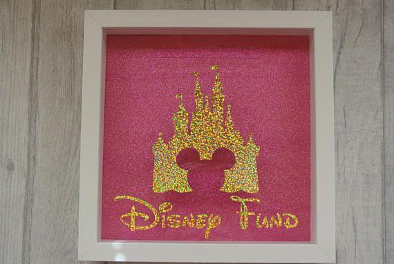 Disney Fund Money Box Frame Disney Castle Honeymoon Savings