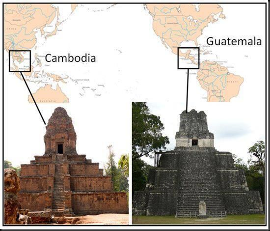 Ancient Temples in Guatemala and Cambodia, Coincidence?