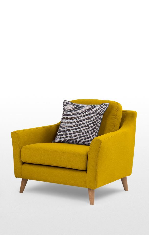 Mustard yellow armchair, MADE.COM Comfort and value are always welcome in a…
