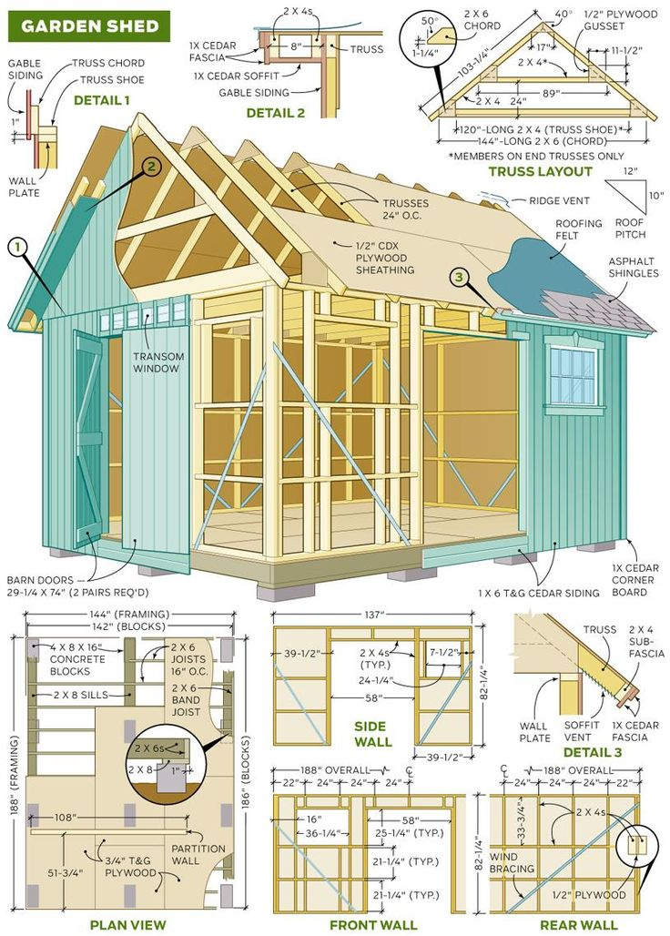 73 best shed ideas images on pinterest sheds gardening for Shed building plans pdf