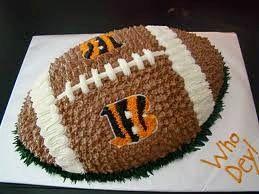 Bengals Football Cake