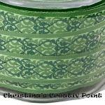 Motivband Ornamente Grün mit Glitter- dieses bezaubernde Motivband ist mit Ornamenten in Grün und mit Glitter gestaltet.