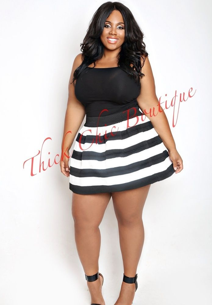 Banded Skater Skirt, $36.99 by Thick Chic Boutique