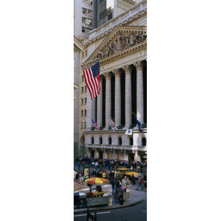 Facade of New York Stock Exchange Manhattan New York City New York State USA Canvas Art - Panoramic Images (27 x 9)