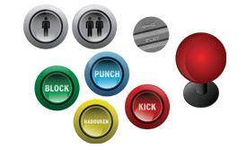 printable 2 player arcade button insert - Google Search