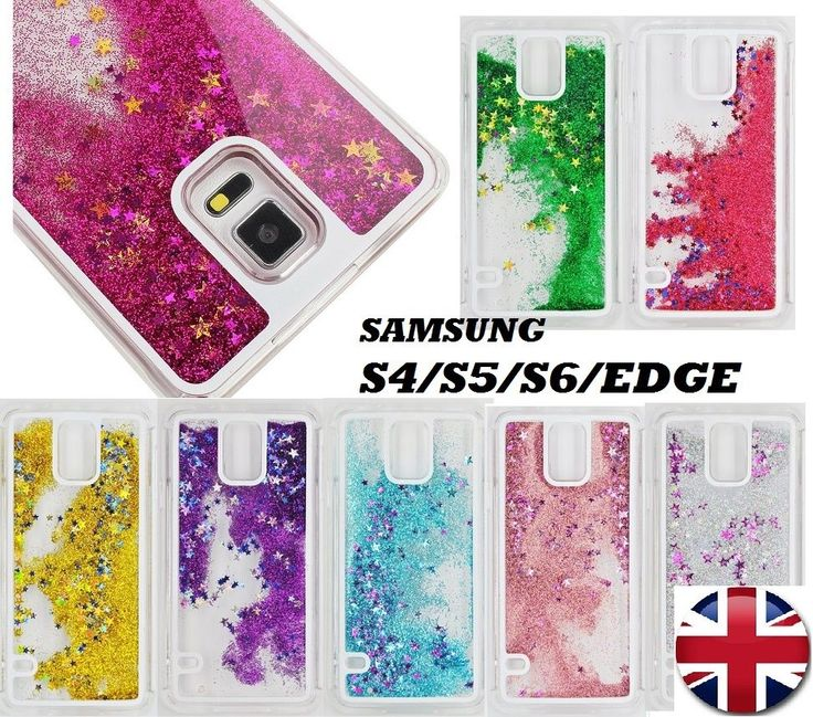 Glitter Bling Stars Liquid Novelty Colourful Phone Case Fits Samsung S4/S5/S6/