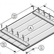 Tafelblad maken voor een steigerhout tuintafel, gratis bouwtekening.