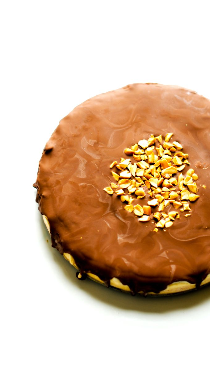 Frozen Chocolate Peanut Butter Cake with Chocolate Quinoa Crust - Wendy Polisi