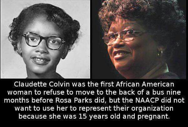 Claudette Colvin-U were the 1st!