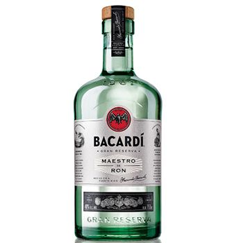 Bacardi-Gran-Reserva-Maestro-de-Ron: a blend of rums aged for up to three years that have been filtered through coconut shell charcoal. US$24.99