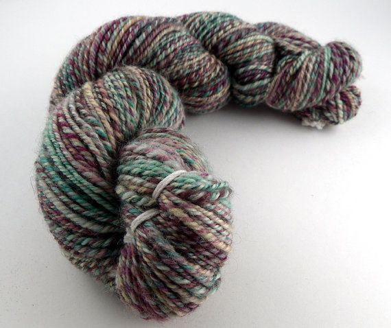 Handspun Yarn  SW Bluefaced Leicester  3 Ply Yarn  by KnittersNook, $25.00