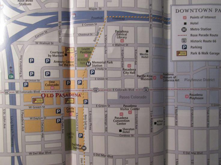 Old Pasadena, California Map