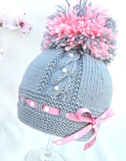 Bebé sombrero P A T T E R N tejer sombrero bebé por Solnishko43