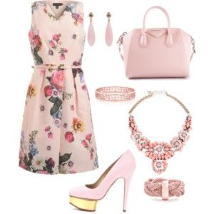 pink outfit for summer wedding or any event appropriate.