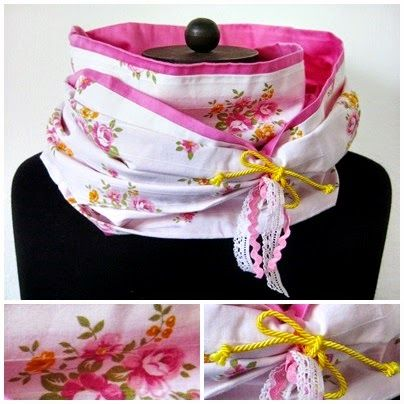 Schal aus Bettwäsche / Infinity scarf made from bed linen / Upcycling