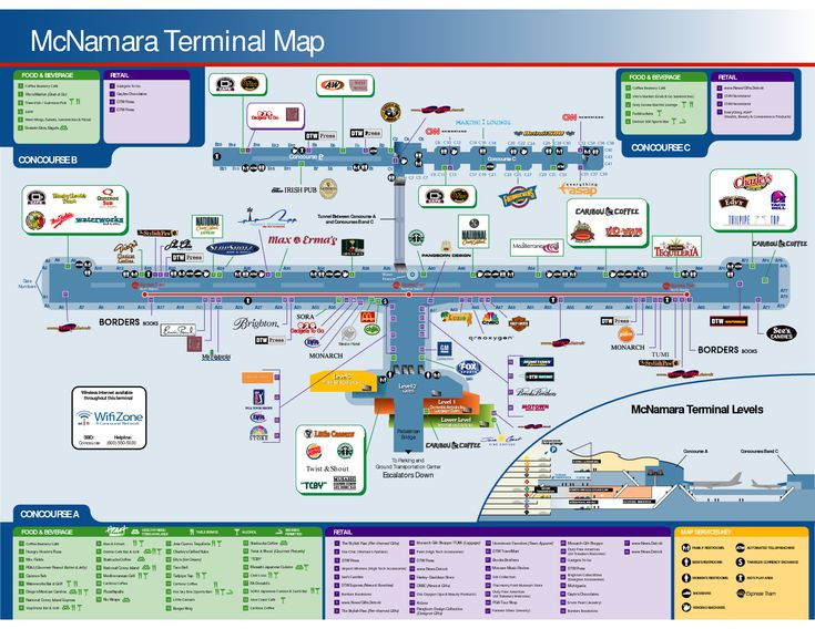 Dtw Airport Terminal Layout Florence on
